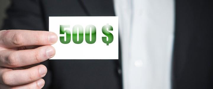 Gagner 500$. Les références, c'est payant!