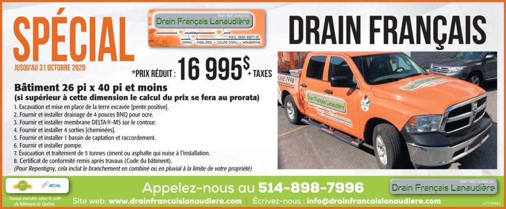 Promotion octobre 2020 - Système de drainage complet
