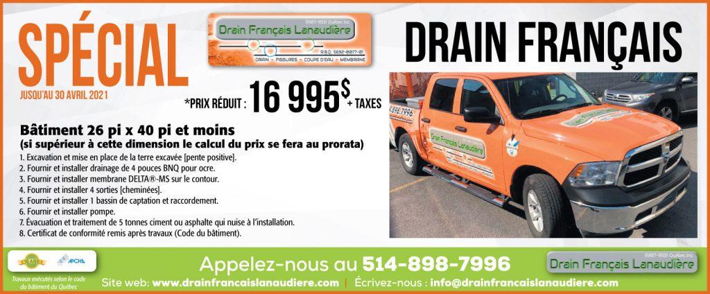 Promotion printemps 2021 - Système de drainage complet