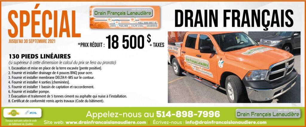 Promotion septembre 2021 - Système de drainage complet