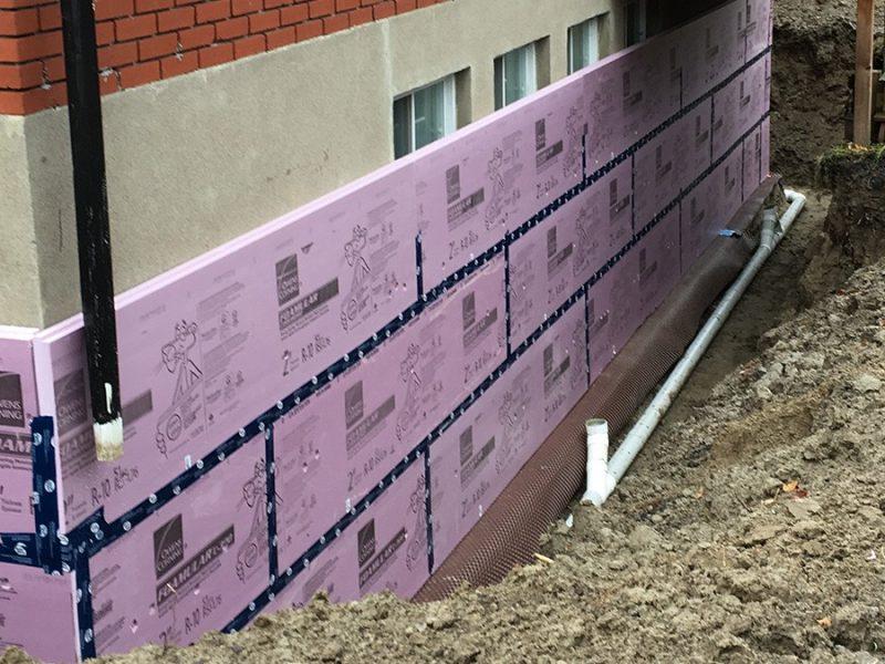 Imperméabilisation de fondation à Montréal