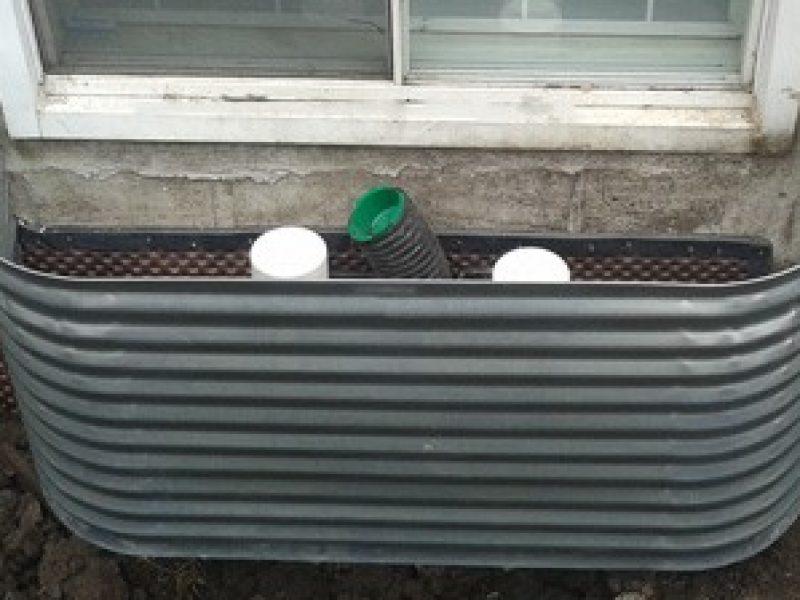 Installation de margelles avec drain
